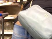 Ebony bubble ass in jeans bending 2