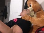 Chubby Tattooed Teen's Teddy Bear Fetish Fantasy - Myra Gold