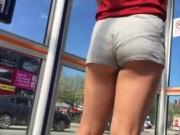 bus stop cheeky very short shorts