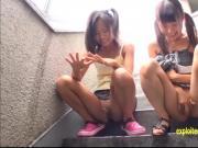 Petite Asami Tsuchiya, Shuna Kagami Play With There Pussies