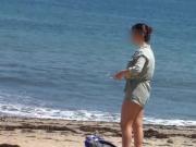 Cada vez que voy a la playa me encuentro con ella.