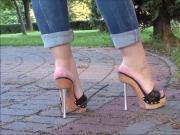 Wooden Platform High Heels