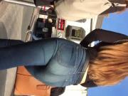 Hot british teen ass in jeans
