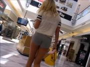candid hottie in shorts