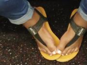 Candid ebony feet black sandals 2
