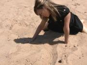 Tania - at the sand beach