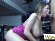 MILF Madison Peet fucked in public bar
