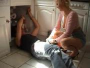 Grandma needs some loving from a young plumber