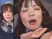 Cute JAV Girl - Split Screen Bukkake