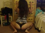 Thong twerk on webcam
