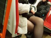 Nice legs in black pantyhose