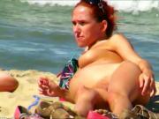 Spy Beach Pregnant Mature Huge Nipples