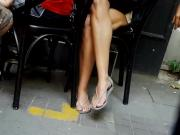 Her sexy long feets perfect long sexy toes legs