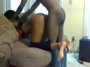 Black amateur couple recroding sex tape
