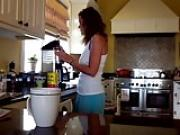 MILF making coffee