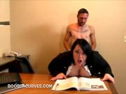 Fuck me plumper in a tiny skirt fucked over a desk