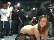 Young 19 yo french slut Laure IR rough gangbang