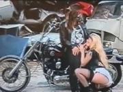nasty white trash biker whore