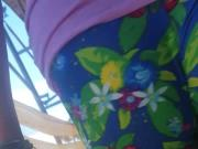 Candid Slovenian girl wearing tight leggings