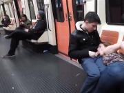 Fellatio on the Madrid Spain Underground Metro