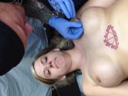 Nipple piercing fun