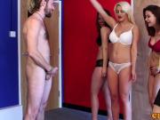 CFNM ladies use naked guy