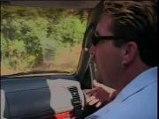 Dude driving a car