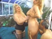 British Big and Busty Gaynor in a foursome