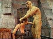 Lara Croft & 2 orcs
