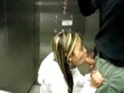 Blowjob in elevator