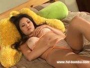 Busty Asian Kaiya Lynn Dildo Fun