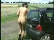Skinny German Analslut outdoors real Amateur