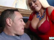 Russian stepmom sucking stepsons hard cock