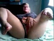 Fat Chubby Teen GF masturbating with nice delicious feet