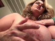 Curvy milf Jewels Carter plays with cameraman's dick