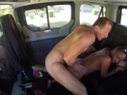 FuckedInTraffic - Chocolate hot babe getting fucked in a car