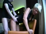 Pretty blonde gets it in pussy, ass and face.