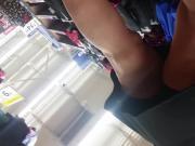 Sexy Dark Haired Milf Upskirt At Walmart