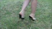 Very nice legs in high heels mules