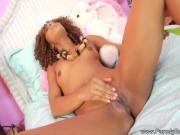 Ebony Sister Masturbates Her Pussy