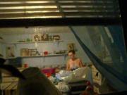 Girl down the street window view