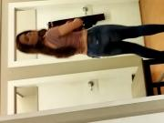 Hot redhead at the changing room