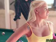 Busty teen Marsha May sucking stepdads huge fat cock