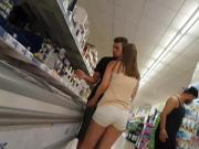 White jeans hotpants german teen