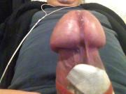 estim edging throbbing head for precum