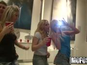 Real Slut Party - Four blonde party girls let loose - MOFOS