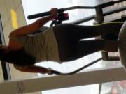 Nice latin ass at the gym