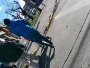 Flashing culo en la calle