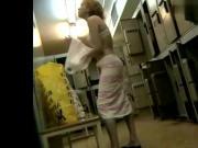 blonde spied in locker room.mp4