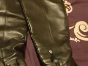Cum all over wife's over knee boots
